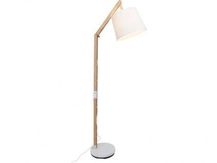 Stojací lampa Carlyn Brilliant 09958A75 / 60W / dřevo / bílá