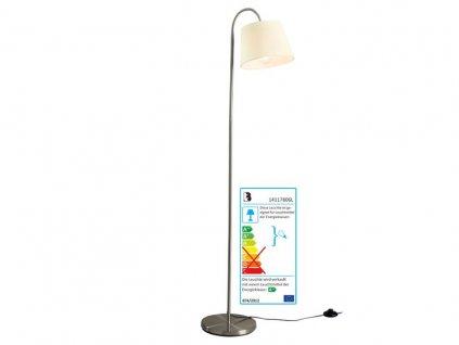 Stojací lampa ohebná LivarnoLux - krémová