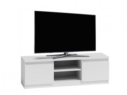 Televizní stolek s úložným prostorem RTV 140 - bílý