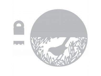 Tvořivá šablona - pták Thinlits