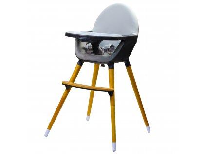 Vysoká dřevěná židle Kinderline WHC-701.1 - Tmavě šedá