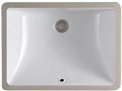 Zápustné umyvadlo pod desku REA DIANA - Bílá
