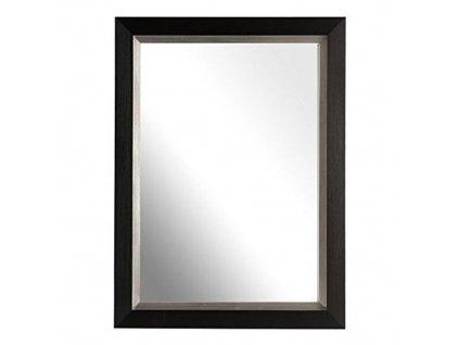 Zrcadlo s rámem - černá 25x20 cm