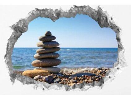 Wandtattoo Fototapeta 3D kámen Zen lepící |Nálepka na zeď|