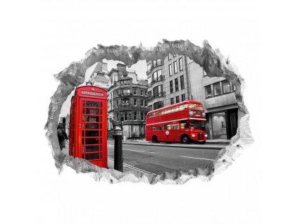 Wandtattoo Fototapeta 3D kámen Londýn lepící  Nálepka na zeď 