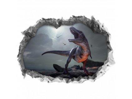 Wandtattoo Fototapeta 3D kámen T-Rex lepící |Nálepka na zeď|