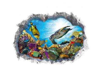 Wandtattoo Fototapeta 3D kámen Podmořský svět lepící  Nálepka na zeď 