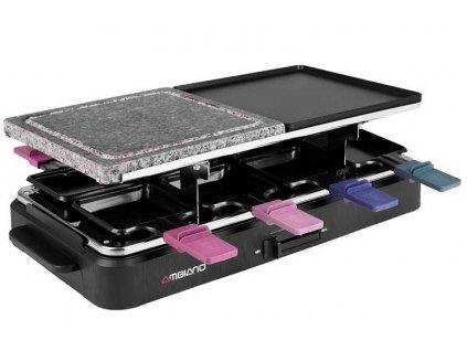 Elektrický raclette gril Studio 92763 - 1400 W / kamenná polovina