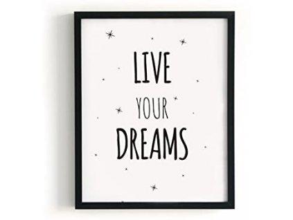 Obraz Kenay KLZ-1026 / Live your dreams / A3