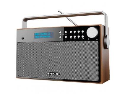 Radiopřijímač s DAB Sharp DR-P355 - dřevo