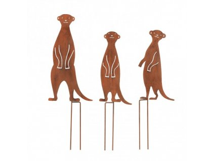 EASYmaxx - Dekorace surikaty v rustikálním vzhledu 3 ks. /interiér i exteriér/