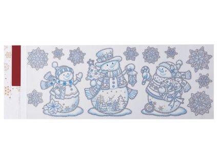EmaHome - Vánoční nálepky do okna - vločky + sněhuláci