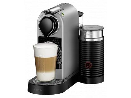 Kávovar / Espresso Krups Nespresso New CitiZ & Milk XN 760B Silver