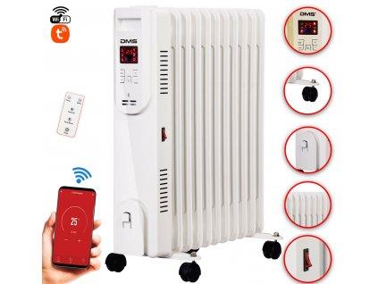 Olejový radiátor DMS OR-11W / 2500 W / Wi-Fi