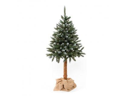 EmaHome - Vánoční stromek/stromeček zasněžený smrk na přírodním stonku 220 cm umělý
