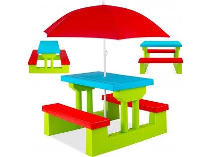 Kesser dětská sedací souprava / sada zahradního nábytku pro děti / skládací stůl s lavicí / zelený