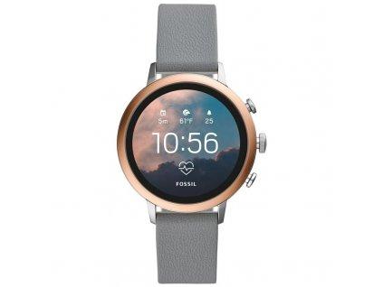 Chytré hodinky Fossil Venture HR - Gray Silicone