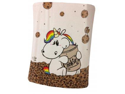 Chubby Unicorn - Deka 130 x 160 cm cookies