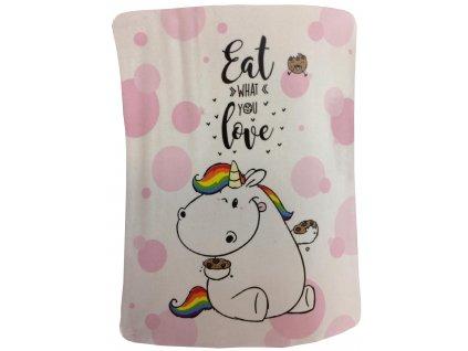 Chubby Unicorn - Deka 130 x 160 cm eat what you love