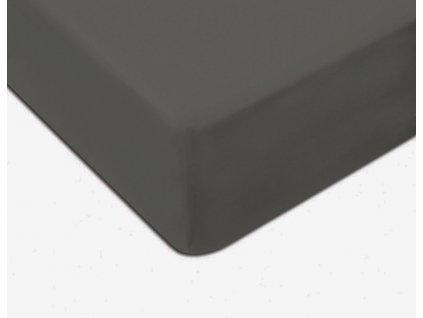 EmaHome - Jersey prostěradlo 90x200 cm tmavě šedá 301