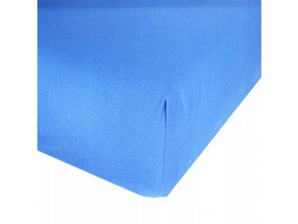 EmaHome - Jersey prostěradlo 140x200 cm modrá 309