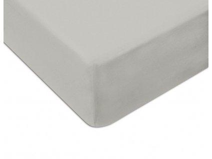 EmaHome - Jersey prostěradlo 160x200 cm světle šedá 120