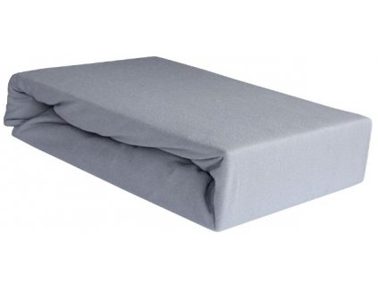 EmaHome - Jersey prostěradlo 160x200 cm šedá 119
