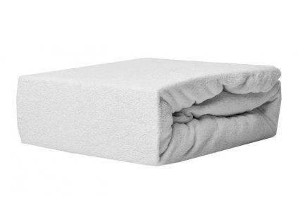 EmaHome - Froté prostěradlo 160x200 cm bílá 101