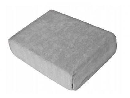 EmaHome - Froté prostěradlo 160x200 cm šedá 119