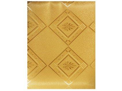 EmaHome - Ubrus s ochranou proti skvrnám 130 x 160 cm / zlatá se vzorem