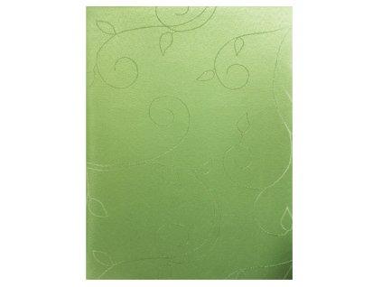 EmaHome - Ubrus oválný s ochranou proti skvrnám 140 x 180 cm / zelená se vzorem