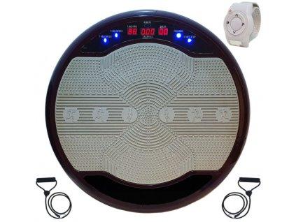 Fitness vibrační deska / vibrační trenažér / LED osvětlení / Fialová