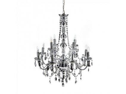 Křišťálový stropní lustr Tomasucci 12 žárovek / stříbrný
