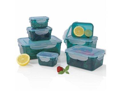 GOURMETmaxx nádoby na skladování potravin Klick-it / Zelené