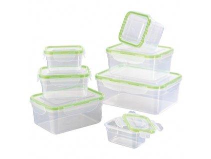 GOURMETmaxx nádoby na skladování potravin Klick-it / Zelené víko