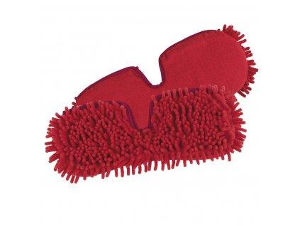 CleanMaxx - Náhradní utěrky pro stříkací mop 883393, červené, sada 2 ks