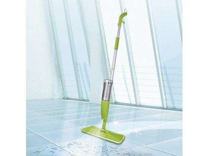 CLEANmaxx - Stříkací mop 600 ml nádoba na vodu / zelený