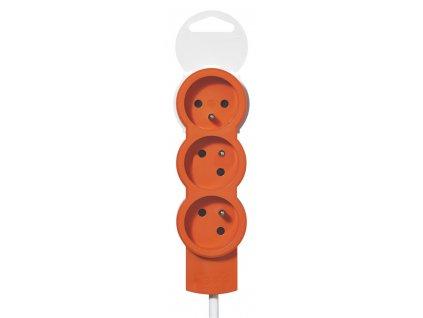 Legrand 50031 - Prodlužovací kabel / 16 A / 1,5 m / 3x2 P+T / 3 zásuvky / oranžový