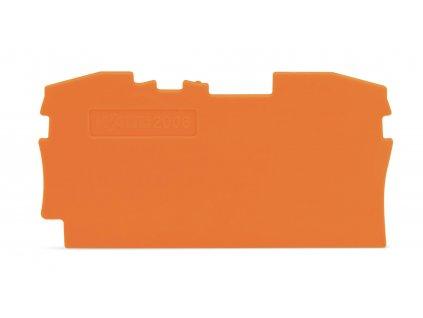 Přepážka Wago 2006-1292 / 100 ks / Oranžová