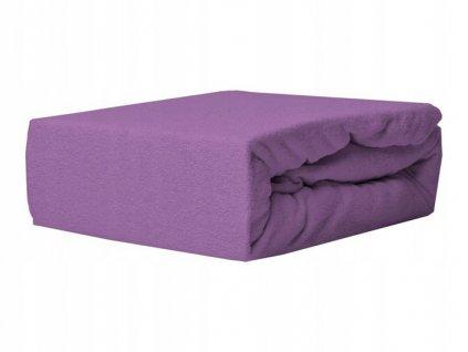 EmaHome - Froté prostěradlo 90x200 cm fialová 316