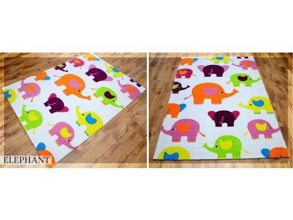 Koberec LOVELY-KIDS 140 x 200 cm - ELEPHANT