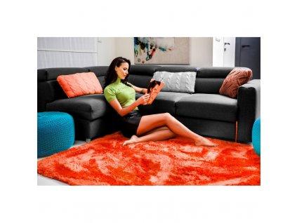 Plyšový koberec korálová 160 x 230 cm
