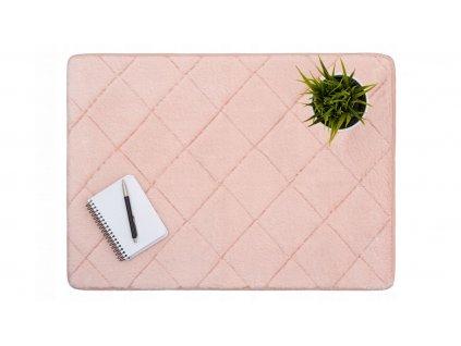 Plyšový kobereček RABBIT / Růžová 50 x 70 cm