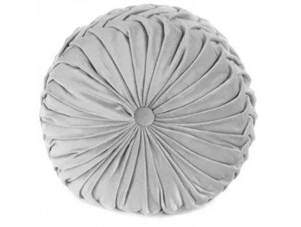 Dekorační polštář GLAMOUR - světle šedá