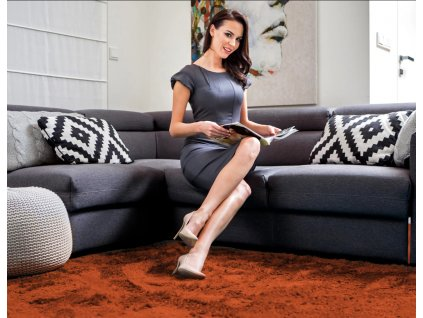 Plyšový koberec Tutumi SHOCK 120 x 170 cm Terra