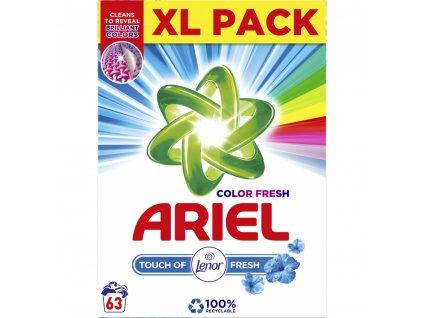 Prací prášek Ariel Touch of Lenor / 63 praní / 4,725 kg / Poškozený obal