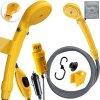 Kesser přenosná zahradní sprcha nabíjecím kabelem / zahradní hadice 2m / s akumulátorovým čerpadlem / žlutá