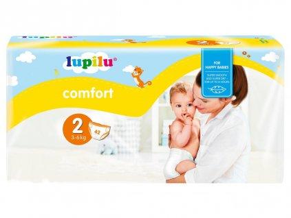 Dětské pleny Lupilu Comfort 2 Mini 3-6 kg - 44 kusů