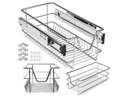 Kesser šuplík do skříně / teleskopický šuplík / zásuvka do skříně / 50 cm