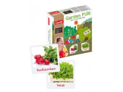 Zahradní pěstovací rostoucí sada Quercetti / dětská hra / pěstování / ředkvičky / zelenina / zahrada / cykli přírody